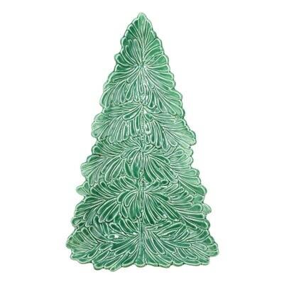 VIETRI Lastra Holiday Figural Tree Small Platter