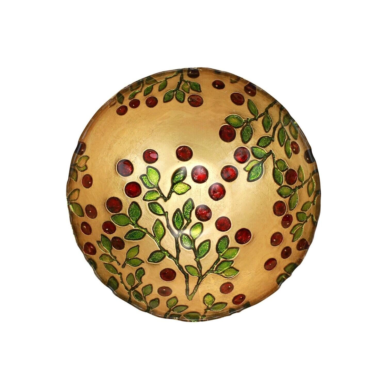 VIETRI Cranberry Glass Cereal Bowl