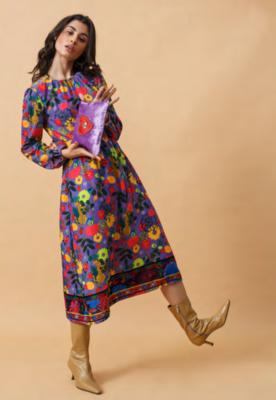 EMILY LOVELOCK Purple Cheetah Dress