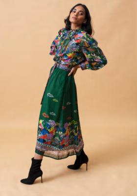 EMILY LOVELOCK Green Chinois Blouse