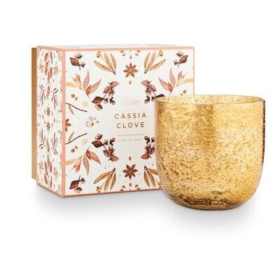 ILLUME Cassia Clove Luxe Sanded Mercury Glass Candle