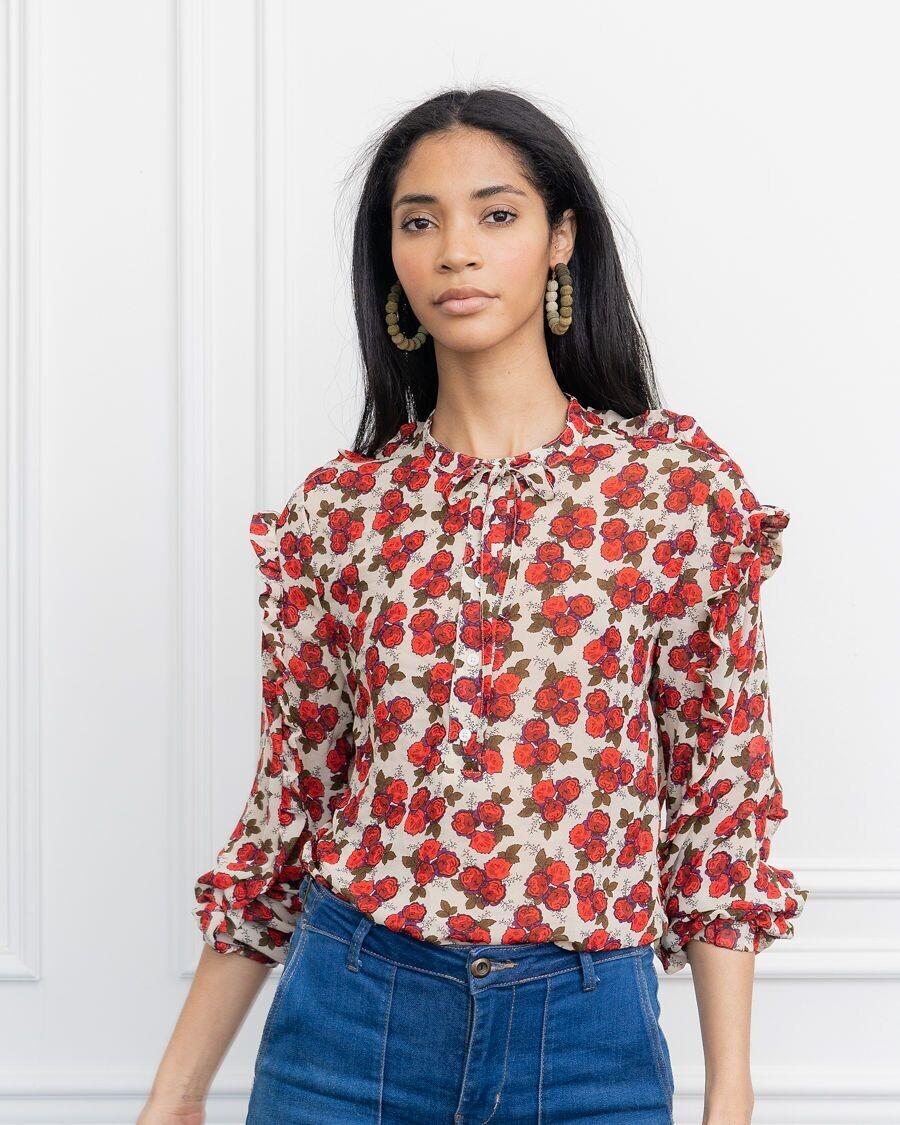 THE SHIRT Robyn Shirt (Red Rose)