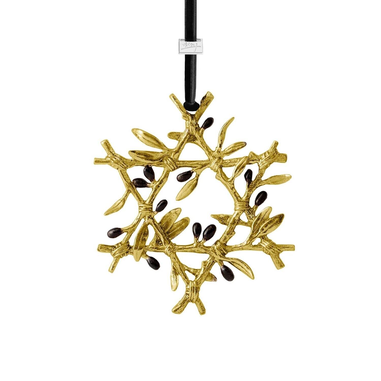MICHAEL ARAM Olive Branch Star Ornament