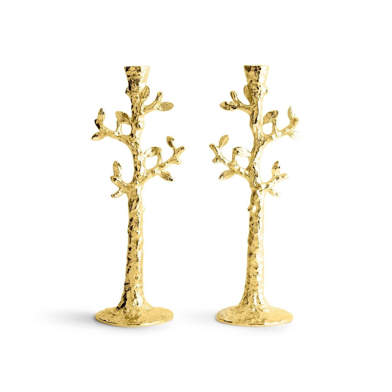 MICHAEL ARAM Tree of Life Candleholders Gold