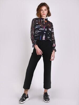 VILAGALLO Patrizia Black Knit Trouser