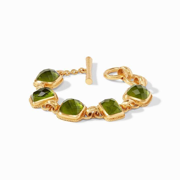 JULIE VOS Savoy Demi Bracelet Iridescent Jade Green (BL157GIJG00)