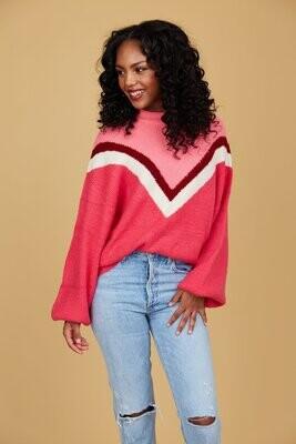 CROSBY Miller Sweater (Berry Fun)