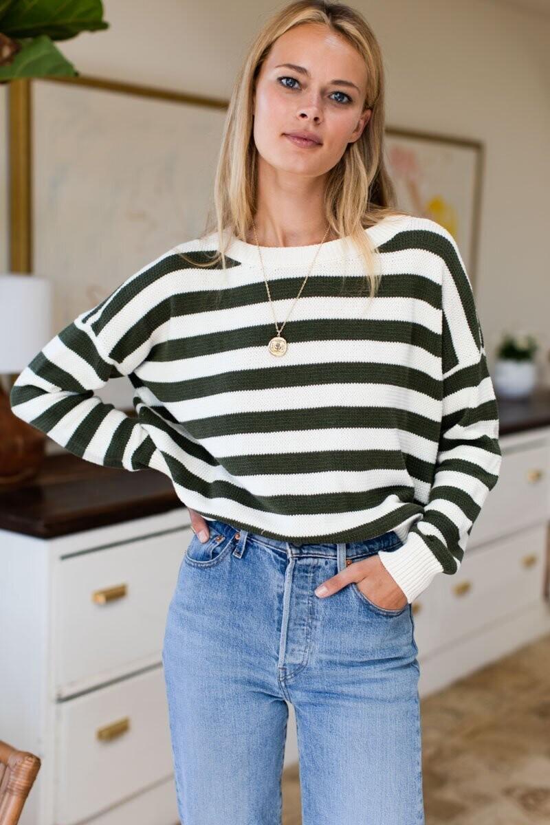 EMERSON FRY Carolyn Sweater (Army French Stripe)