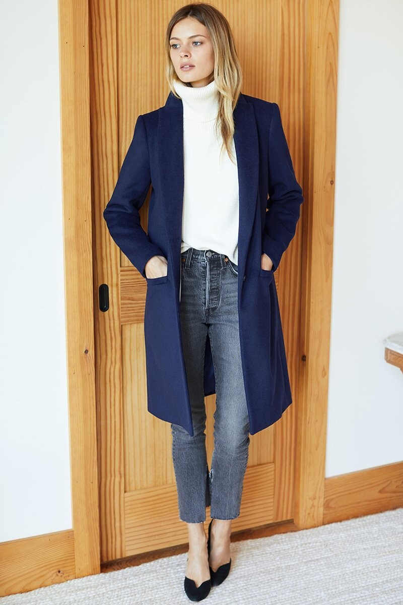 EMERSON FRY Tailored Coat (Navy)