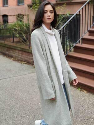 WHITE+WARREN Plush Melange Luxe Coat