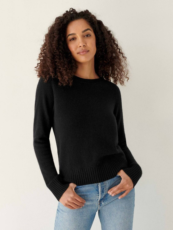 WHITE+WARREN Cashmere Long Sleeve Sweatshirt