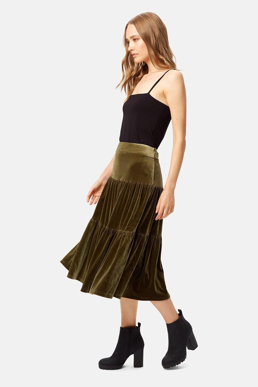TRAFFIC PEOPLE Velvet Underground Skirt (Green)