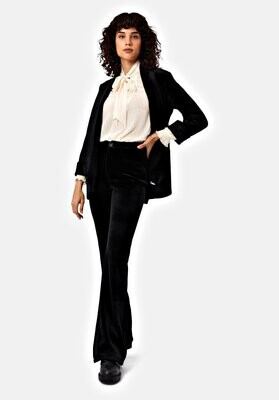 TRAFFIC PEOPLE Mom Flared Cord Trouser (Black)