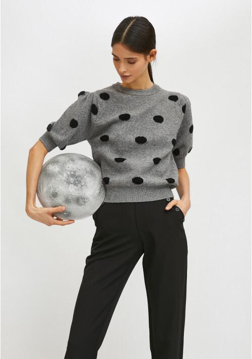 CO FANTASTICA Polka Dot Sweater Grey