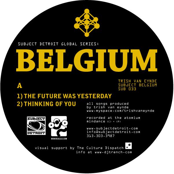 SUB033 | SUBJECT BELGIUM EP | TRISH VAN EYNDE