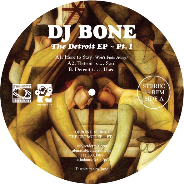 SUB040   THE DETROIT EP - PT. 1   DJ BONE **WAV