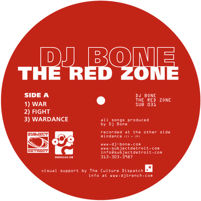 SUB031 | THE RED ZONE EP | DJ BONE