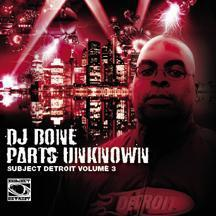DJ BONE - PARTS UNKNOWN - SUBJECT DETROIT VOL.3 (2 X CD)
