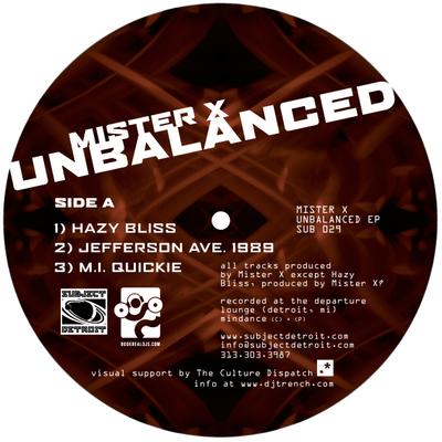 SUB029   UNBALANCED EP   Mister X