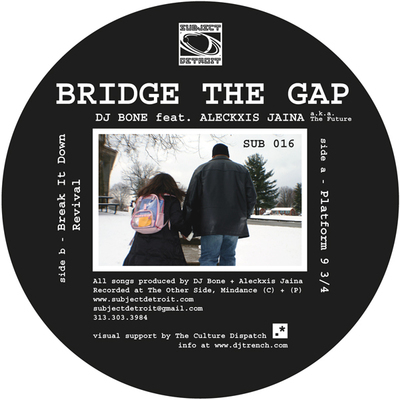 SUB016 | BRIDGE THE GAP | DJ BONE feat. ALECKXIS JAINA **WAV