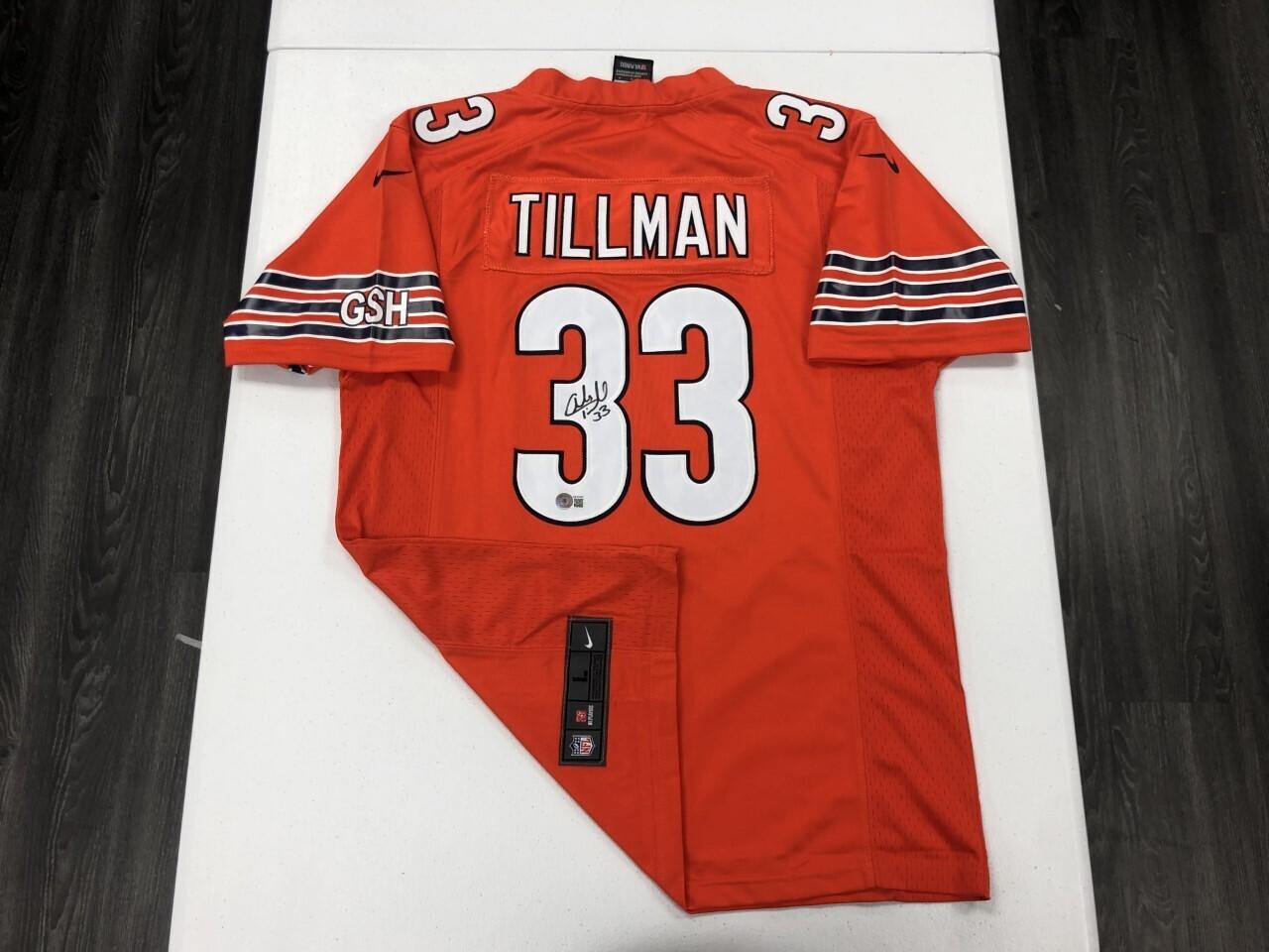 Charles Tillman Signed Orange Jersey