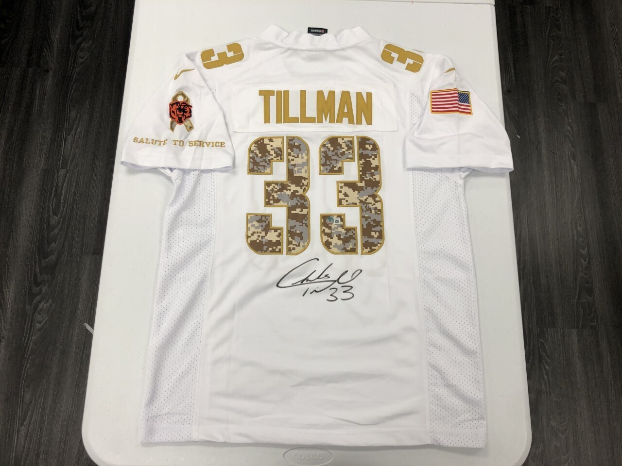 Charles Tillman Signed White Salute to Service Jersey