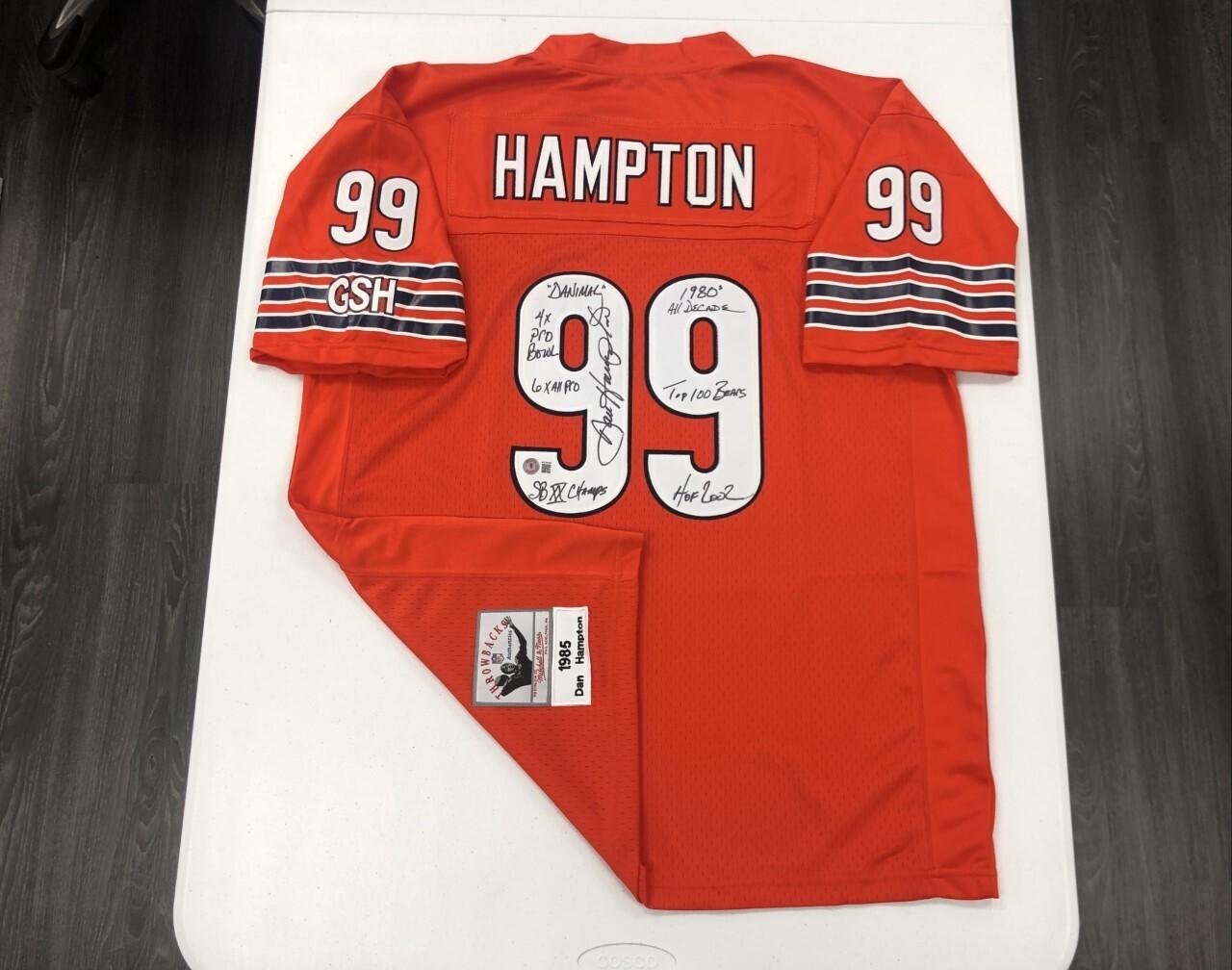 Dan Hampton Signed Orange Jersey