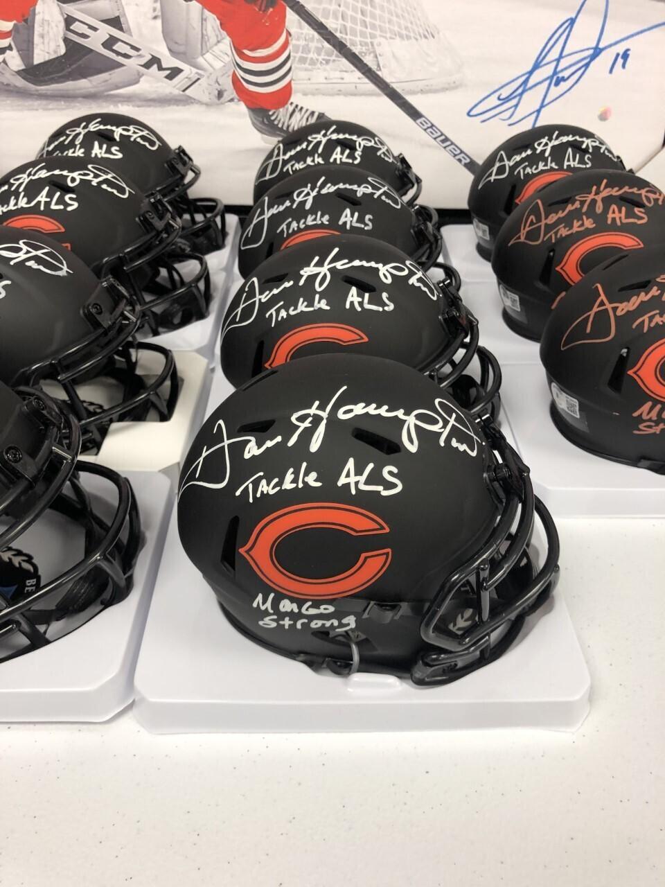 Dan Hampton Signed Eclipse Mini-Helmet (White Ink)