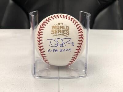 David Ross Signed Official 2016 World Series Baseball w/