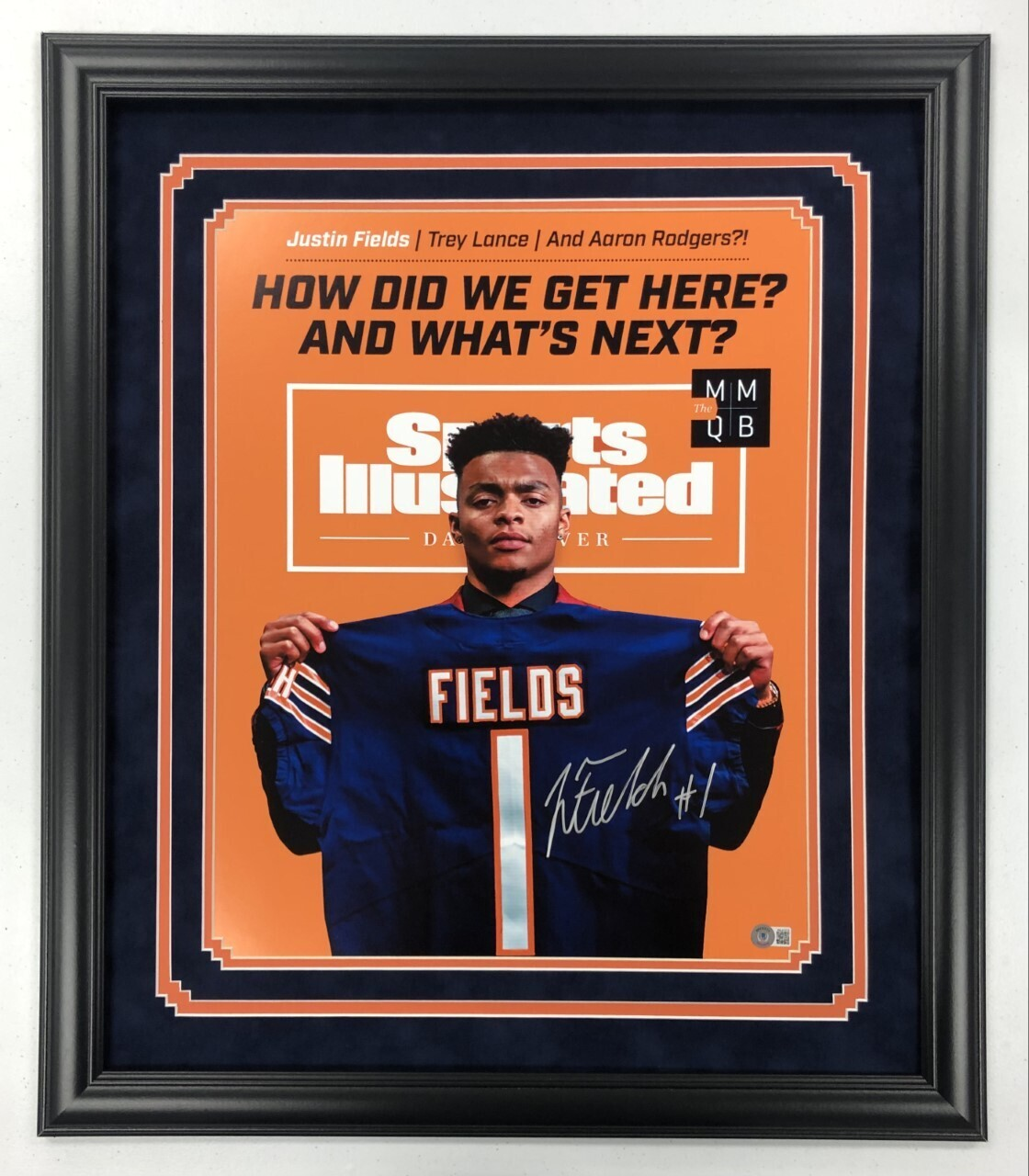 Justin Fields Signed + FRAMED 16x20 Photo