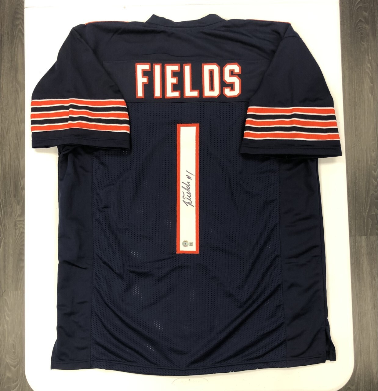 Justin Fields Signed Jersey (Navy)