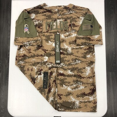Justin Fields Signed Camo Salute to Service Jersey (Silver Ink)