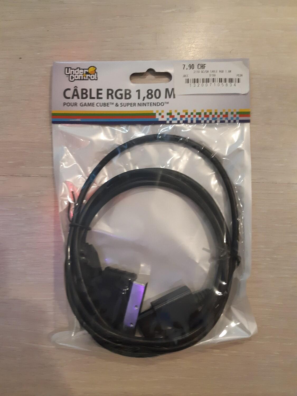 Cable RGB 1.80m game Cube super nintendo