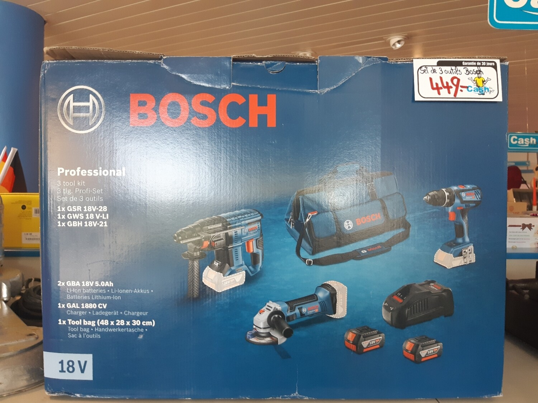Set 3 outils Bosch professionnel