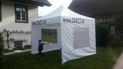 "Budget Faltzelt 3x3 Meter Stahl 30mm ""Sponsor"""