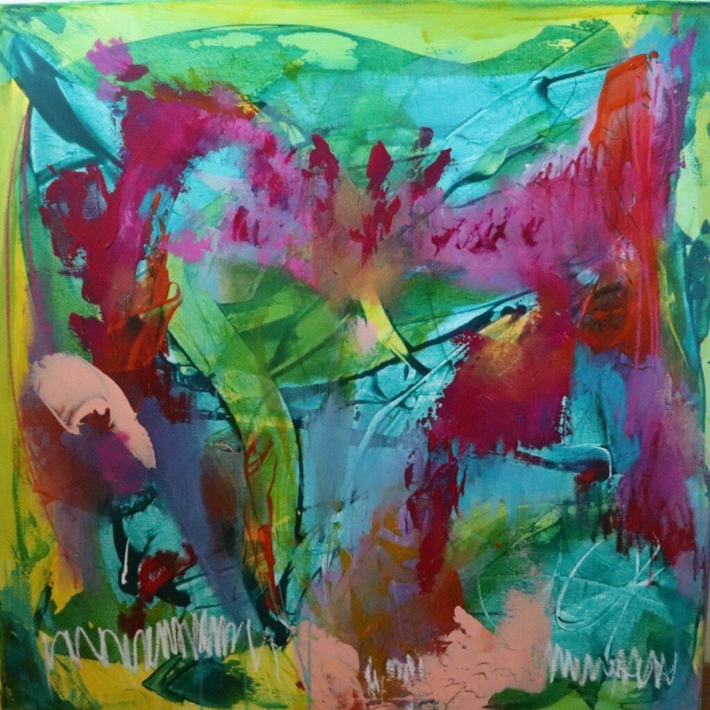 Wild Amazon  80 x 80 cm