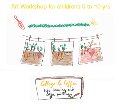 Creative Art Workshop 'Collage & Coffee' - Sat 22 May, 10-11.30am (Age 5-10)