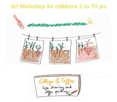Creative Art Workshop 'Collage & Coffee'  - Sat 12 June, 10-11.30am (Age 5-10)