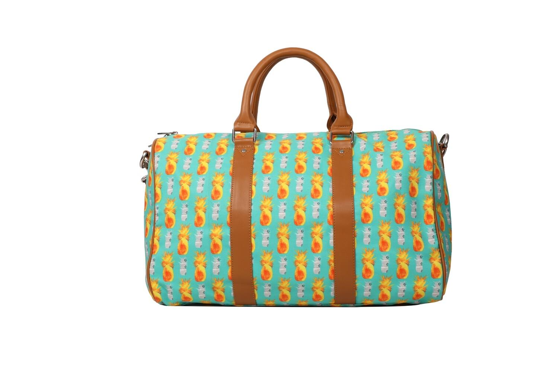Mint Duffel Bag with Pineapple Print