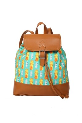 Mint backpack with Pineapple Print