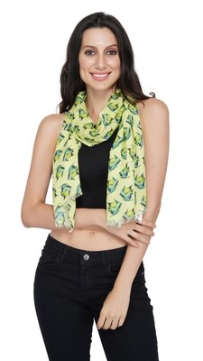 Lime Green Fish Print Stole