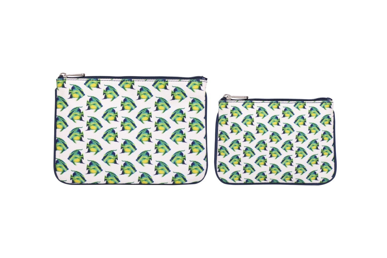 Set of 2-Fish Illustration Pouches