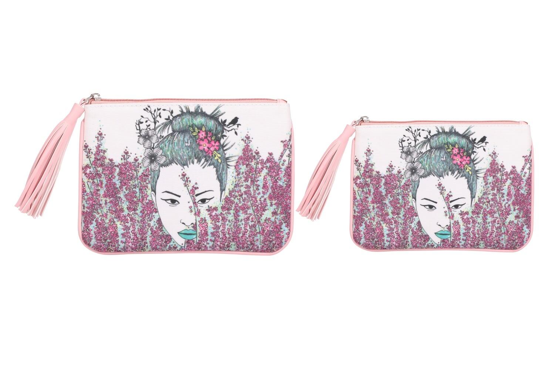 Set of 2-Geisha Print Pouches