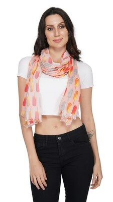 Pink popsicle print stole