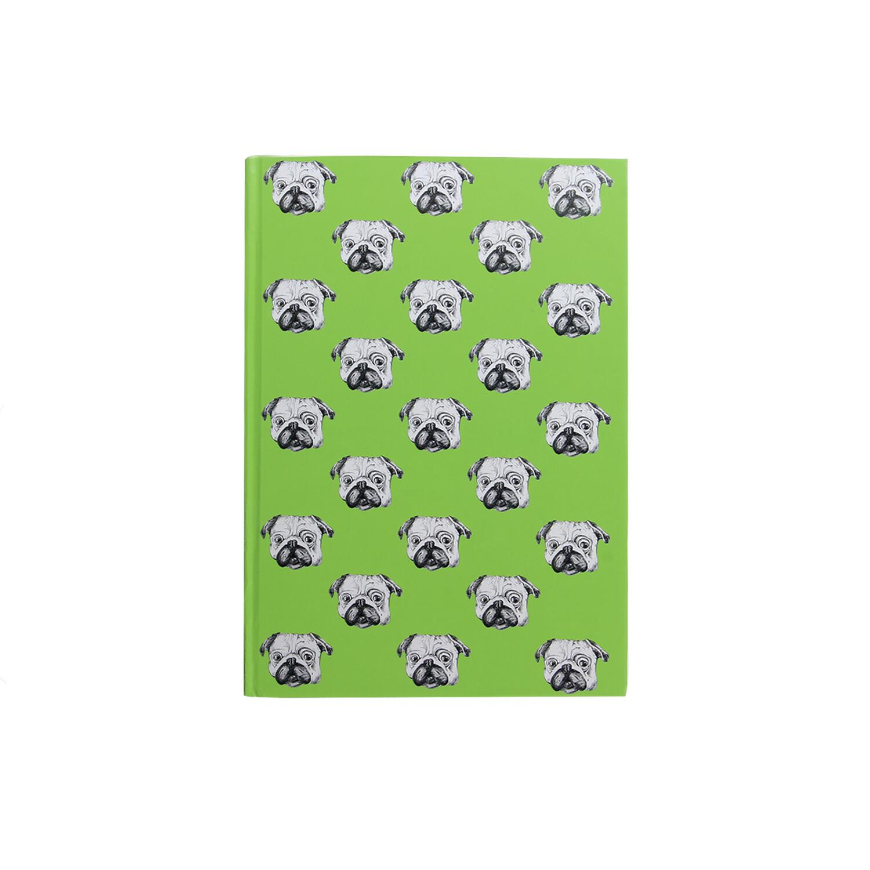 Green Pug Print Diary