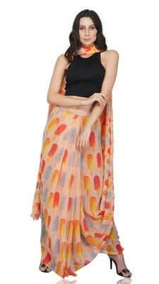Popsicle Print Saree