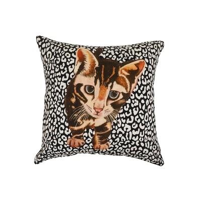 Kitten Print Cushion Cover