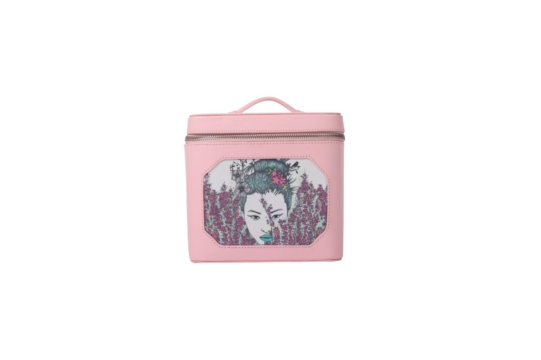 Pink make-up case with Geisha illustration