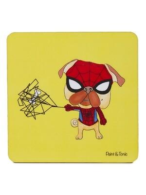 Spider Pug Coasters-Set of 4