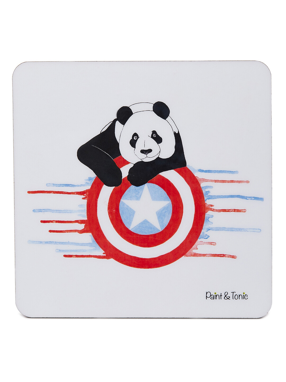 Captain Panda Coasters-Set of 4